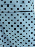 MARC JACOBS Women Black Blue Pattern Blouse Shirt Top Front Pocket Sleeveless S