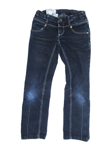 IMPS & ELVES Unisex Dark Wash Blue Straight Leg Bottom Jeans Size 116