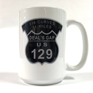 Mug - Map & Shield White