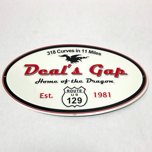 Oval Aluminum Sign 11x19