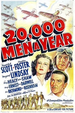 20,000 Men A Year (1939) - Randolph Scott  DVD