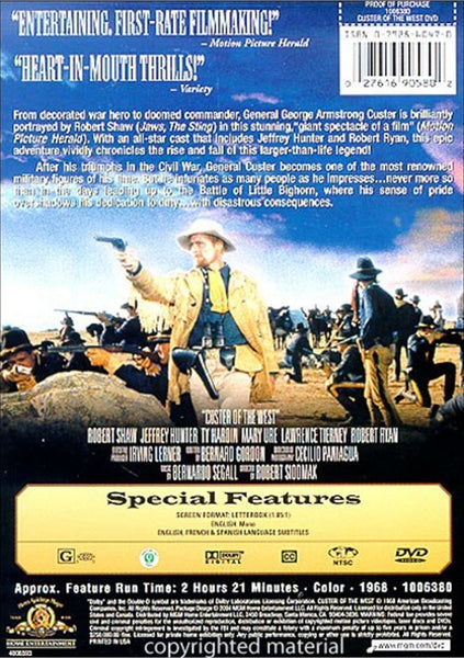 Custer Of The West (1968) - Robert Shaw  DVD
