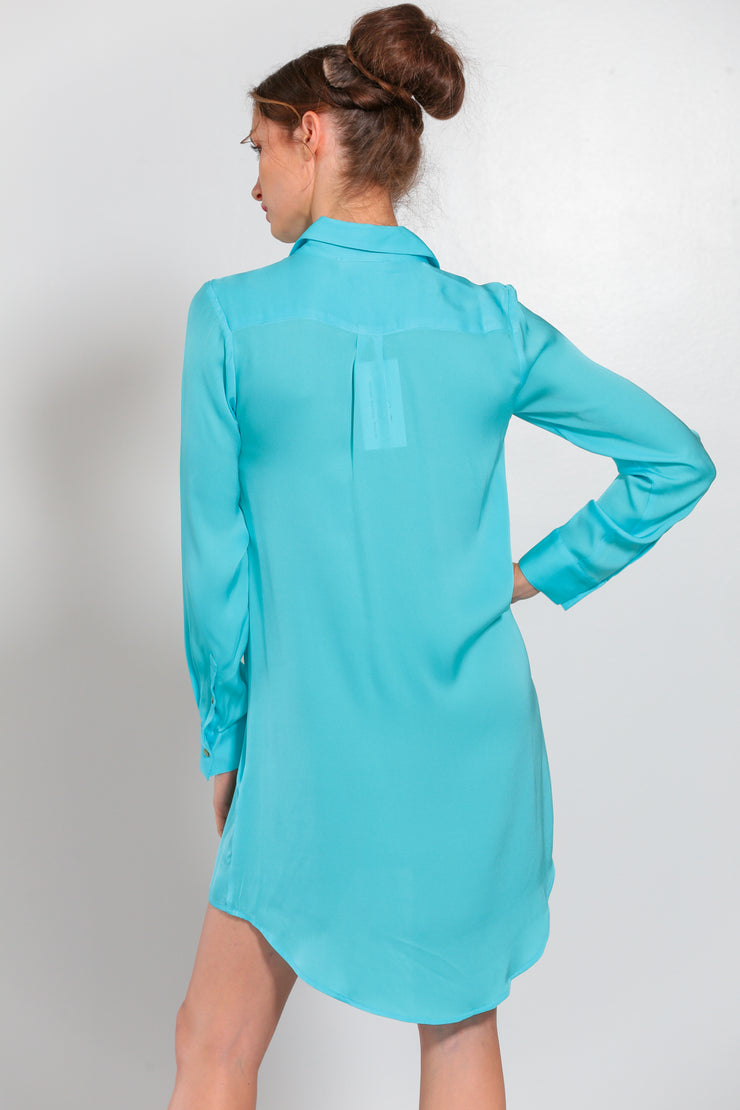 London Shirt Dress Turquoise - Nouvelle