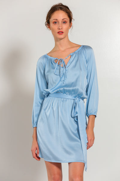 Verona Dress Faded Denim - Nouvelle