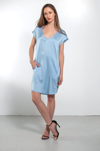 Athena Dress Faded Denim - Nouvelle