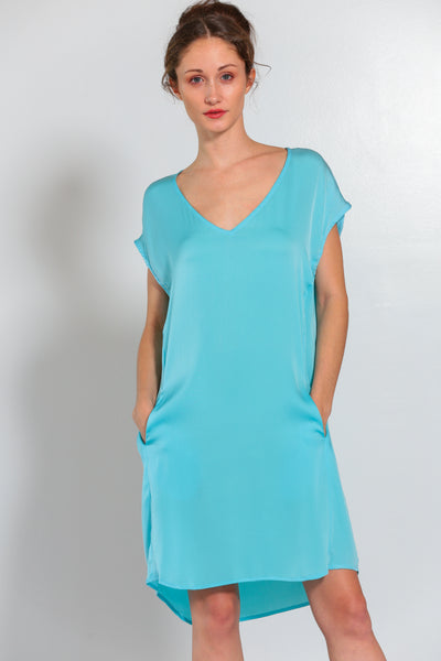 Athena Dress Turquoise - Nouvelle