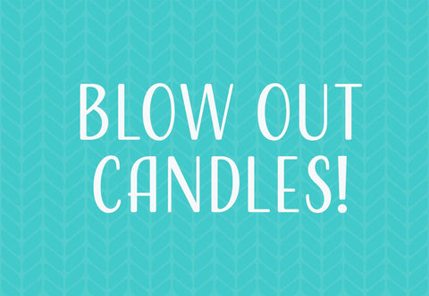 Blow Out Candles! Welcome Mat