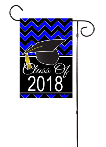 Graduation Class of 2018 Plain or Chevron Double Sided Garden Flag