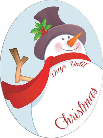 Countdown Until Christmas Dry Erase Snowman Sign