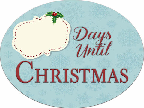 Countdown Until Christmas Dry Erase Sign