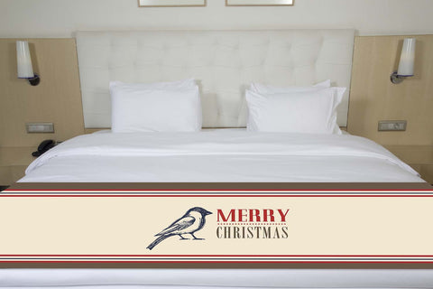 Merry Christmas Bird Bed Runner