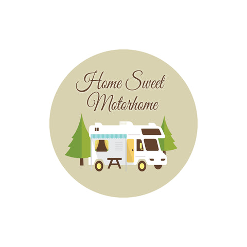 Home Sweet Motorhome Sticker