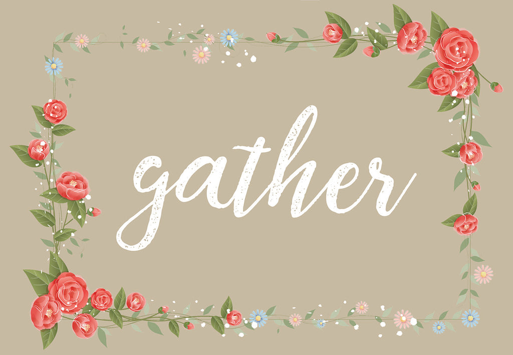 Gather Floral Welcome Mat