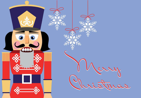 Nutcracker Christmas Welcome Mat