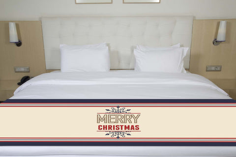 Merry Christmas Snowflake Bed Runner