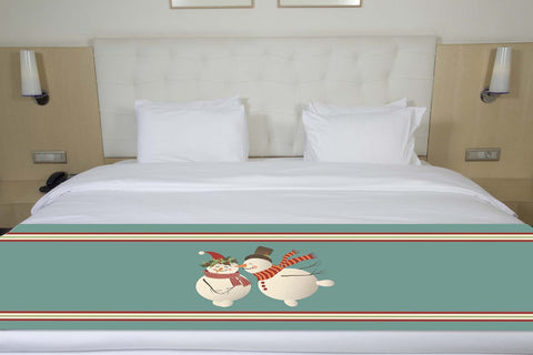 Snowmen Christmas Bed Runner