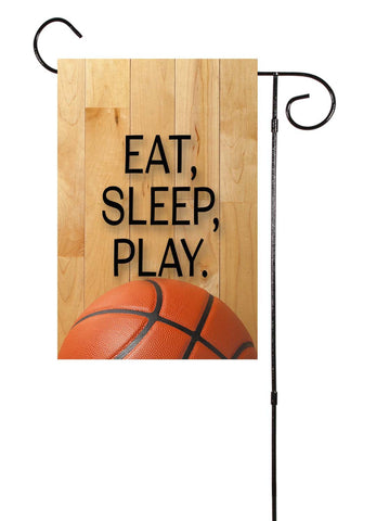 Basketball - Eat, Sleep, Play. Garden Flag