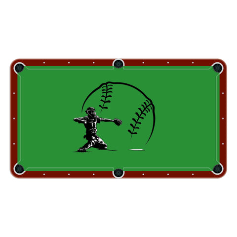 Baseball Catcher High School College Team Mascot Billiards Cloth