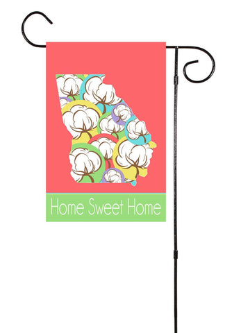 Georgia - Colorful Cotton Bolls - Garden Flag