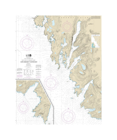 Alaska Cape Ommeney Nautical Chart Vinyl Print