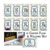 Nautical Garden Flag & Welcome Mat Bundle