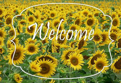 Sunflower Welcome Mat