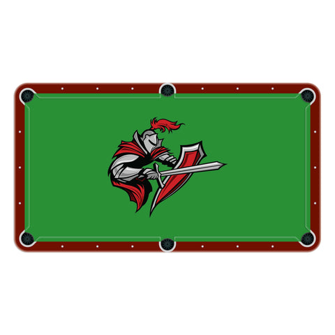 Knights High School College Team Mascot Billiards Cloth