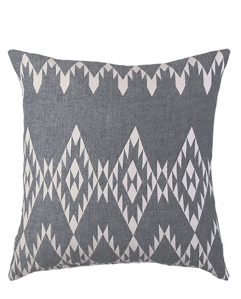 Cotton cushion cover with kilim pattern, made in Turkey - Shopping Blue