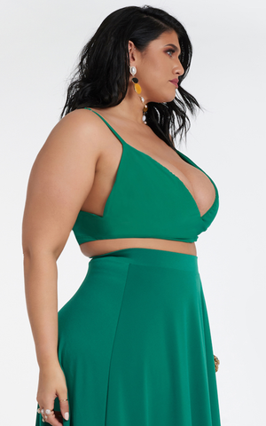 Cheri Triangle Top - Emerald