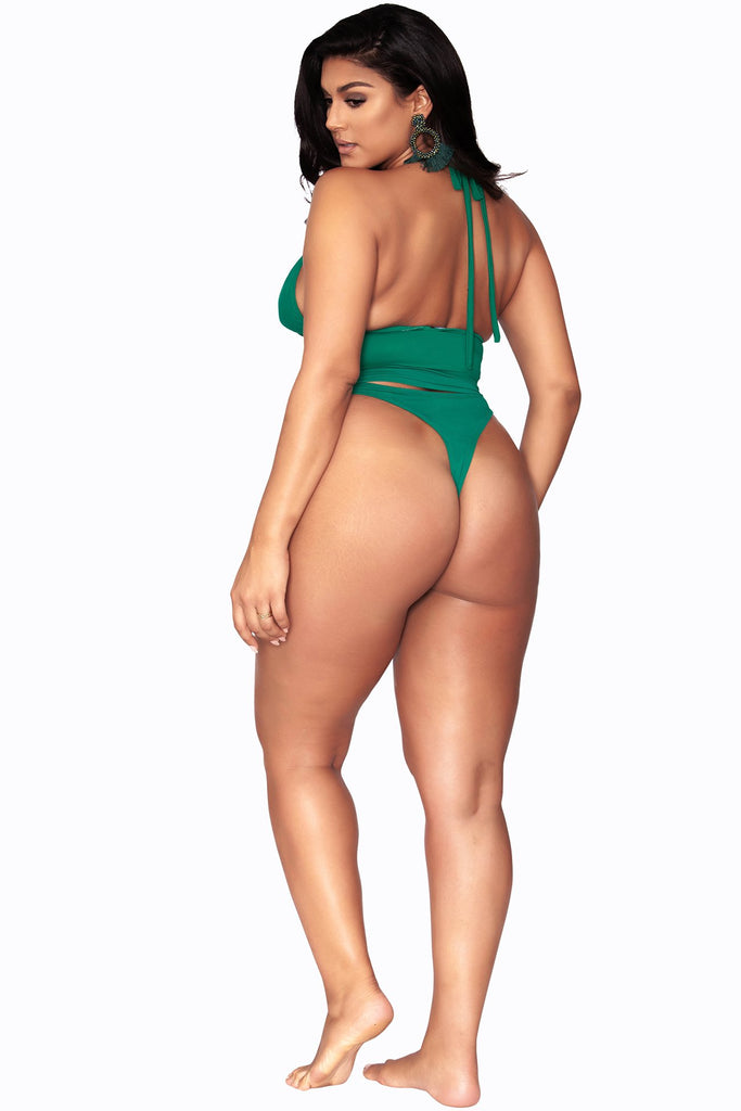 Paris Bikini Bottom- Minimal Coverage - Emerald