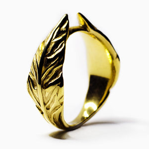 GOLD LAUREL RING