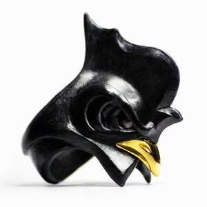 BLACK ROOSTER RING