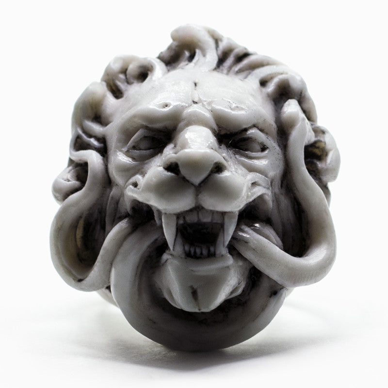 WHITE LION RING