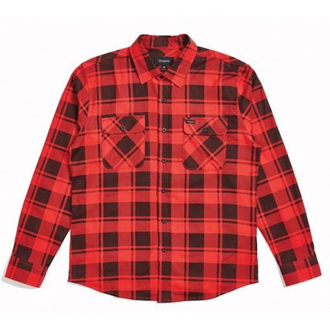 Brixton Bowery Longsleeve Flannel Red/Black