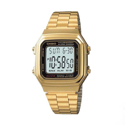 Casio 10 Year Battery, Multi Alarm Gold