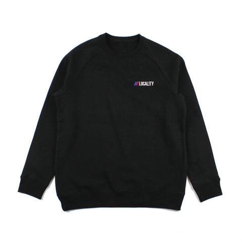 Locality Flag Embroidered Crew Neck Black