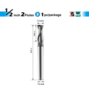 [SPEED TIGER] ISE Carbide Square End Mill - Micro Grain Carbide End Mill for Alloy Steels / Hardened Steels - AlTiBN Coating - 2 Flute - Fractional