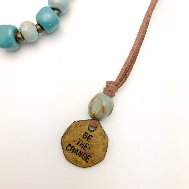 Be the Change Coin Necklace