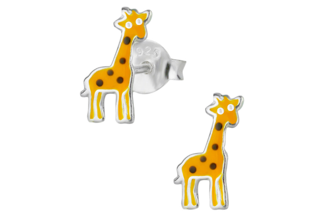 Sterling Giraffe Stud Earrings