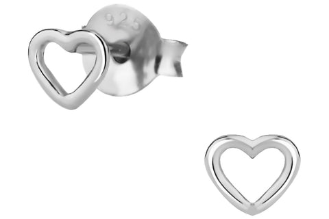 Sterling Silver Small Heart Earrings