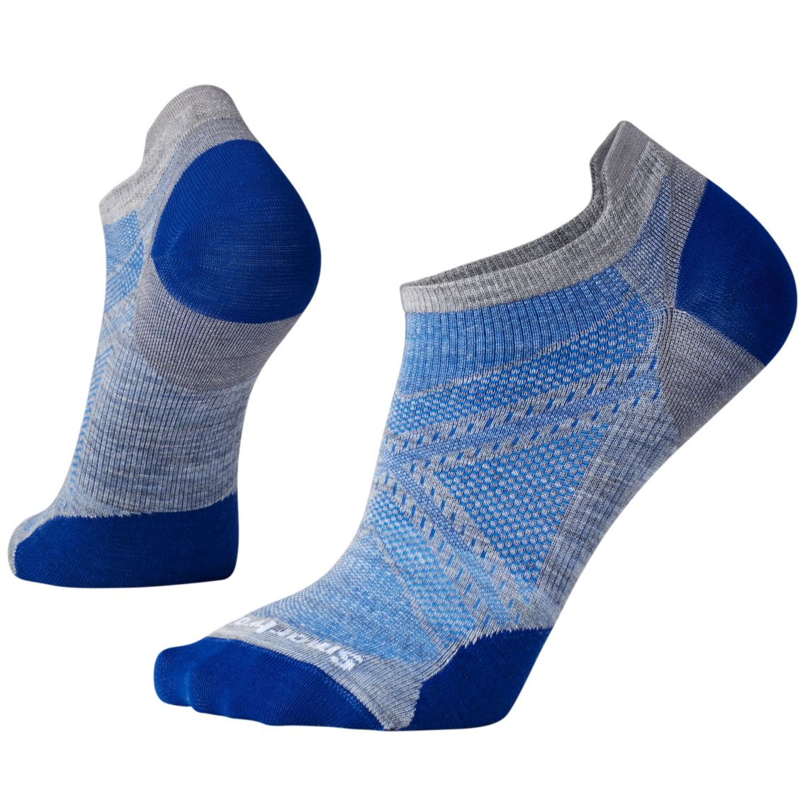PhD® Run Ultra Light Micro Socks Light Gray/Dark Blue (Men)