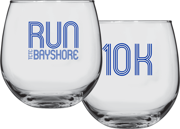 Run Bayshore Wine Glass (10K only)