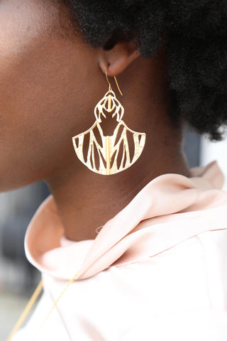 Ultrasonic Flight Etched Cutout Earring