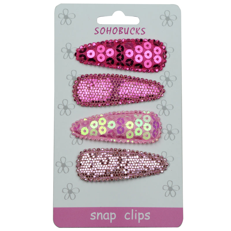Sequin cover 5cm hair Clip barrette applique1055