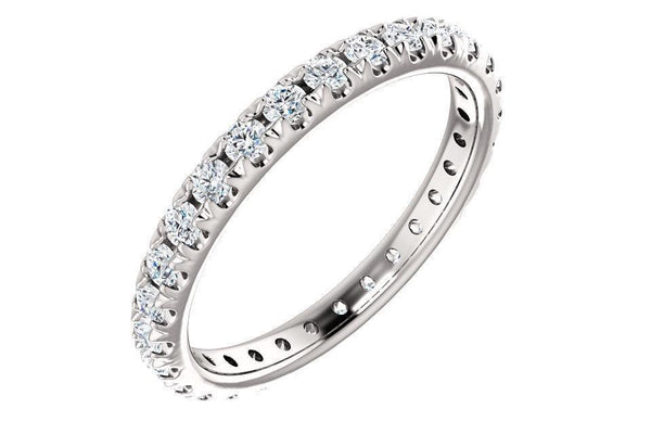 14K French-Set 1ctw Moissanite Eternity Band 123225-Moissanite Wedding Rings-Farsi Jewelers