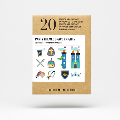 Party Tattoos Pack - Brave Knights