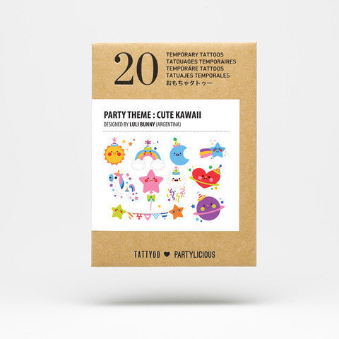 Party Tattoos Pack - Cute Kawaii