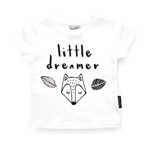 Organic Cotton T-Shirt 'Little Dreamer' White