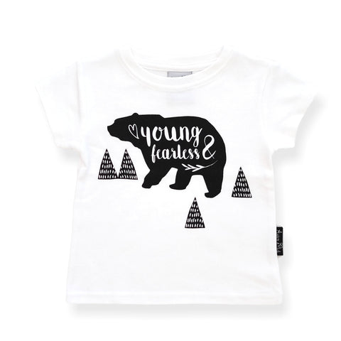 Organic Cotton T-Shirt 'Young & Fearless' White