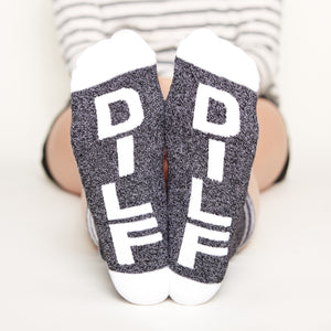 Mommy and Daddy Gift Set socks dilf bottom front view
